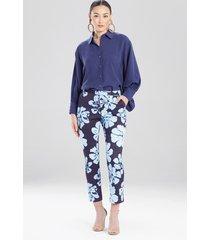 natori hoshi poplin ankle pants, women's, cotton, size 12
