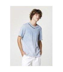 camiseta masculina lavanderia premium manga curta