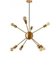 pendente mini togo 8 lustres cobre/cobre - pd110/8co - kin light - kin light