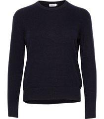 cashmere r-neck sweater stickad tröja blå filippa k