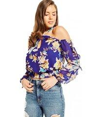 blusa hannaa twist nk top multicolor guess