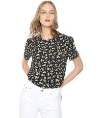 camiseta azul navy-amarillo-blanco vero moda