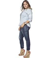 jean skinny femenino azul medio oscuro pretty much