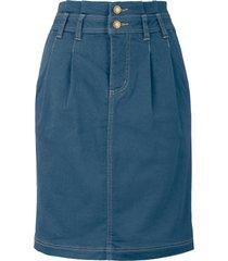 gonna elasticizzata in felpa comoda (blu) - john baner jeanswear