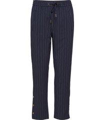 tipin 2 pants byxa med raka ben blå fransa