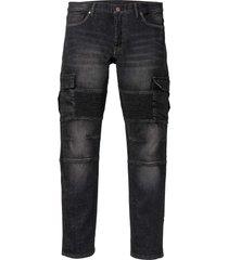 jeans elasticizzati stile biker slim fit straight (nero) - rainbow