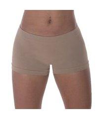 calcinha boxer selene sem costura feminina - chocolate