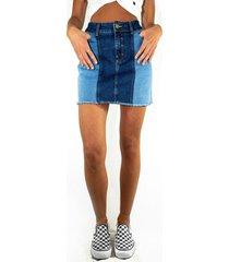 mini bicolor jeans azul raindoor
