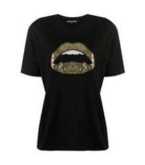 markus lupfer camiseta com paetês - preto