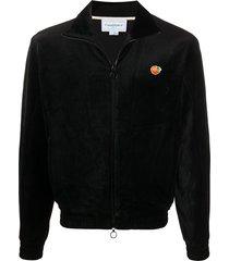 casablanca velour velvet-effect jacket - black
