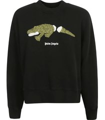 palm angels croco crewneck sweatshirt