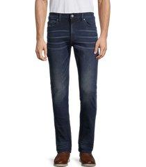 buffalo david bitton men's max-x dirty work skinny stretch jeans - dark denim - size 31 32
