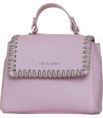 orciani mini sveva white chain in pink