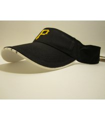 "pittsburgh pirates mlb vintage late 90's ""bones"" visor (new) / twins enterprise"