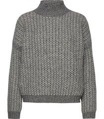 suzannyka stickad tröja grå hugo