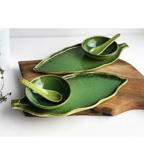 zestaw ceramiczny dla dwojga talerz miseczka