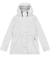hunter regenjas women original lightweight rubberised jacket white