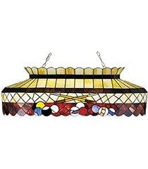 "meyda tiffany 27615 burgundy billiard oblong pendant, 40"" length"