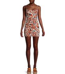 free people women's floral-print mini dress - navy combo - size l