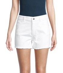dl1961 women's cecilia classic denim shorts - pure white - size 25 (2)
