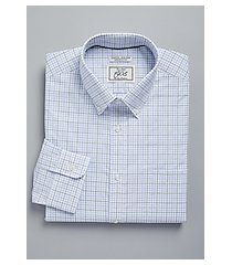 1905 collection tailored fit button-down collar dobby check repreve® dress shirt, by jos. a. bank