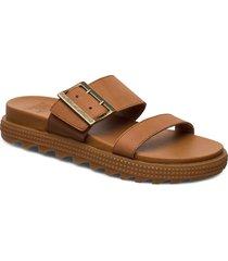 roaming™ buckle slide shoes summer shoes flat sandals brun sorel