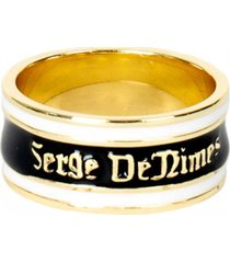 gold plated silver kingdom mourning ring g-kdm-rng-u