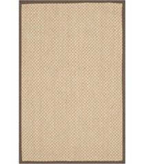 "safavieh natural fiber maize and brown 2'6"" x 4' sisal weave rug"