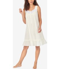 eileen west cotton swiss dot chemise nightgown