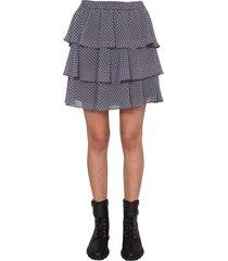michael michael kors mini skirt with flounces
