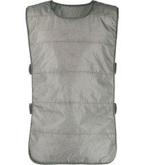 11 by boris bidjan saberi nylon padded vest - grey