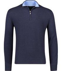 portofino trui met rits donkerblauw