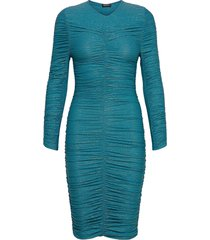 blake, 850 glitter jersey jurk knielengte blauw stine goya