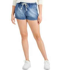 celebrity pink juniors' pull-on jean shorts