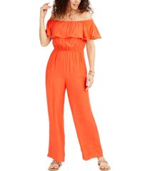 thalia sodi off-the-shoulder jumpsuit, created for macys