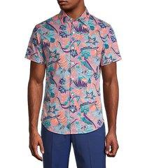 floral slim-fit shirt