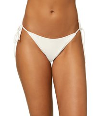 women's o'neill maracas saltwater side tie bikini bottoms, size x-large - white