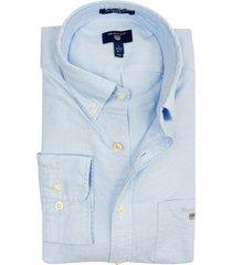 gant overhemd lichtblauw button down
