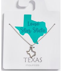 maurices womens dainty texas state necklace gray