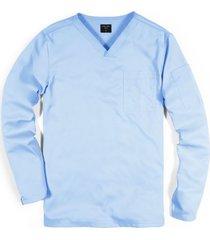 scrub básico camiseta manga larga clororesistente - azul
