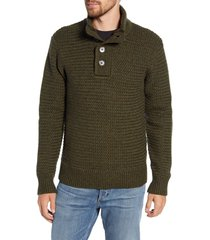 schott nyc military henley sweater, size xx-large in moss green at nordstrom