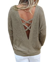 criss cross solid convertible sweater