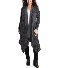1.state women's plus size drape front long cardigan