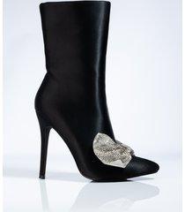 akira azalea wang need you all to myself stiletto bootie in black