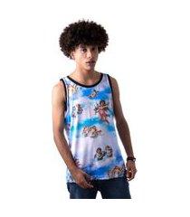 camiseta regata masculina overfame anjos querubins
