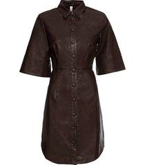 abito in similpelle (marrone) - bodyflirt boutique