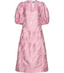 jacquard jurk knielengte roze ganni