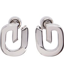 givenchy g link logoed earrings