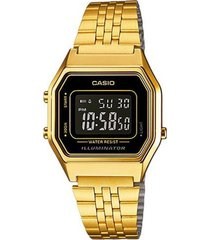 reloj casio la-680wga-1b de mujer-dorado