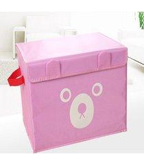 espesar soportar impresión de tela oxford caja de almacenamiento de juguete rosa organizador de almacenaje de ropa